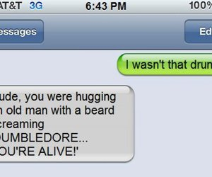 funny, drunk, and dumbledore image