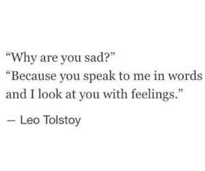feelings, quote, and words image