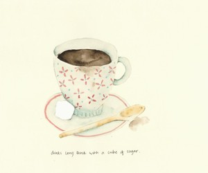 coffee, cup of tea, and drawing image