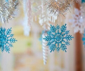 winter, christmas, and snowflake image