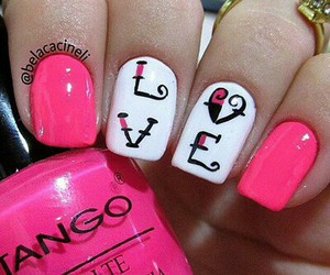 nails, nice, and love image