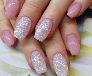 glitter, nails, and ballerina nails image