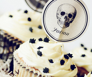 cupcake, poison, and food image
