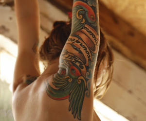 tattoo, arm, and style image