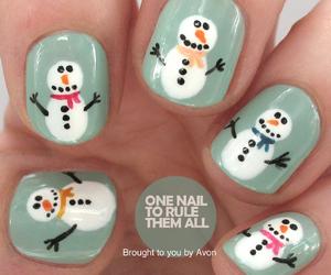 nails, nail art, and winter image