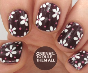 flowers, nails, and dots image