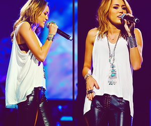 concert, girl, and miley cyrus image