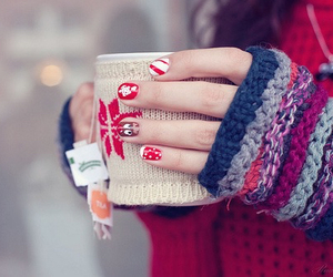 winter, christmas, and nails image