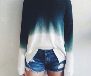 blue, girl, and sweater image