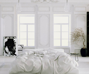 architecture, bed, and room image