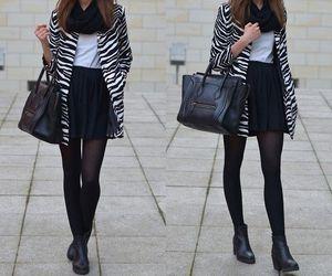 black dress, fall fashion, and outfits image