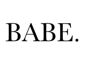 babe and text image