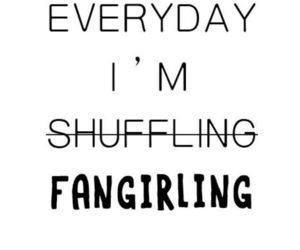 fangirl, fangirling, and books image