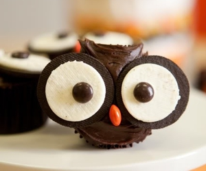 owl, cupcake, and chocolate image
