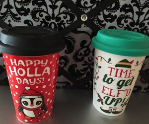 christmas, funny, and mugs image