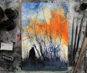 art, beautiful, and paint image