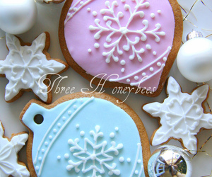 cake, snowflake, and Cookies image