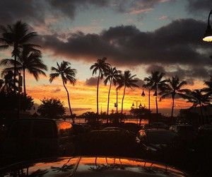 hawaii, summer, and sunset image