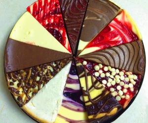 blueberry, cheesecake, and chocolate image