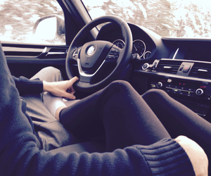 car, bmw, and love image