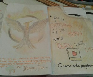 art, the hunger games, and wreck this journal image