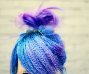 beautiful and blue hair image