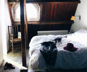 bed, home, and interior image