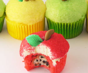 apple, cupcakes, and food image