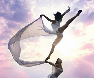 dance, jump, and sky image