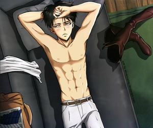 shingeki no kyojin, anime, and levi image