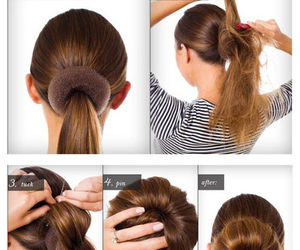 hair, bun, and diy image