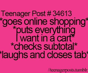 shopping, funny, and true image