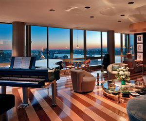 luxury, living room, and piano image