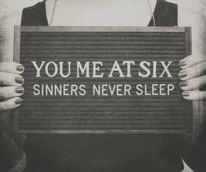 you me at six, sinners never sleep, and music image