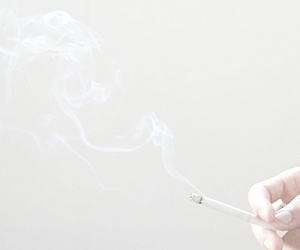 cigarette, white, and smoke image