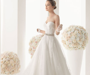 wedding dress, dress, and bridal gowns image