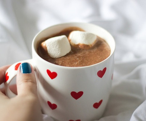 marshmallow, coffee, and drink image