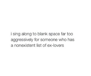 blank space, lovers, and ex image