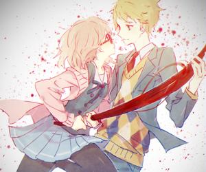 anime couple, kyoukai no kanata, and beyond the boundary image