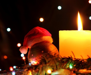 beautiful, winter, and candle image