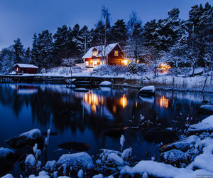 winter, snow, and sweden image