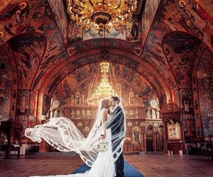 wedding, love, and wedding dress image