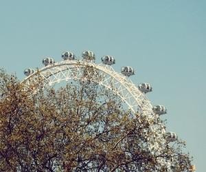 london, london eye, and photography image