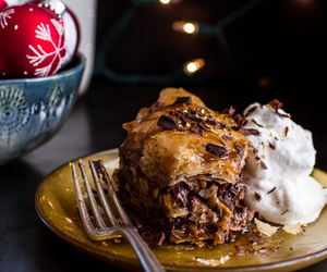 baklava, food, and butter rum image