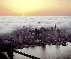 city, san francisco, and fog image