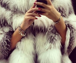 fashion, fur, and nails image