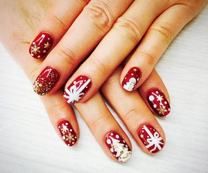 nails, christmas, and taeyeon image