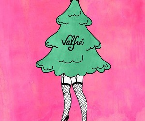 valfre, merry christmas, and pink image