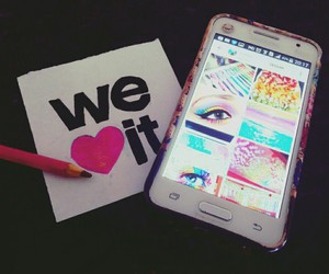 app, nails, and color image