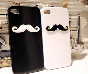 case, black, and mustache image
